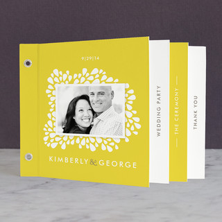 Dainty Droplets Wedding Program Minibook™ Cards