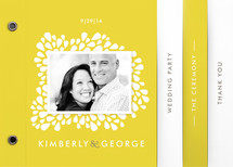 Dainty Droplets Wedding Program Minibook&amp;trade; Cards