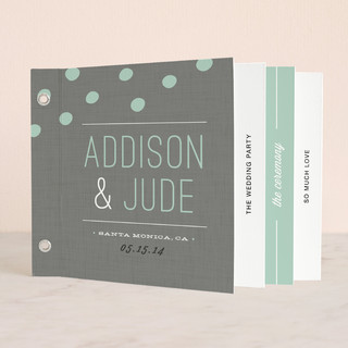 Fresh Dots Wedding Program Minibook™ Cards