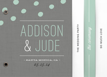 Fresh Dots Wedding Program Minibook&amp;trade; Cards