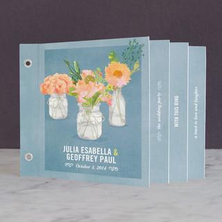 Bouquet D'Amour Wedding Program Minibook™ Cards