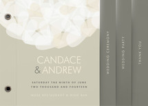 Modern Tulle Wedding Program Minibooks