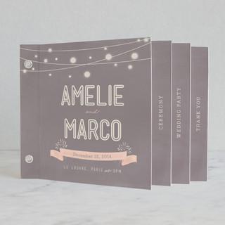 Paris Lights Wedding Program Minibook™ Cards