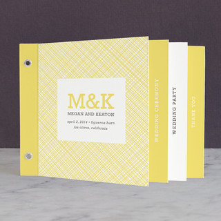 Cross Hatch Frame Wedding Program Minibooks