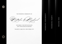 Modern Elegance Wedding Program Minibook&amp;trade; Cards