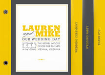 COCKTAIL HOUR Wedding Program Minibook&amp;trade; Cards