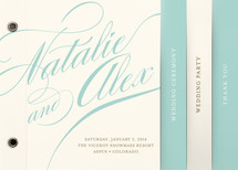 Winter Flourish Wedding Program Minibook&amp;trade; Cards