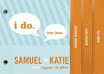 Smart Conversation Wedding Program Minibook™ Cards