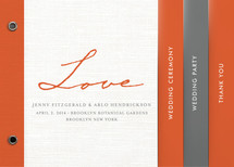 Simply in Love Wedding Program Minibook&amp;trade; Cards
