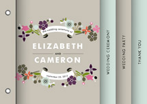Banner and Branches Wedding Program Minibook&amp;trade; Cards