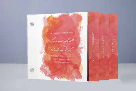 Aquarelle Wedding Program Minibook™ Cards