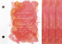 Aquarelle Wedding Program Minibook&amp;trade; Cards