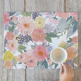 Bold Watercolor Floral Placemats