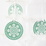 Kelly Green Geometric Snowflake