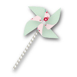 Retro Floral Garden Pinwheels