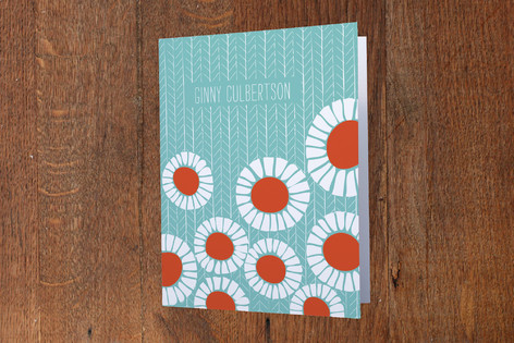 Pretty Poppies Folded Personal Stationery