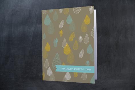 Rainy Day Folded Personal Stationery