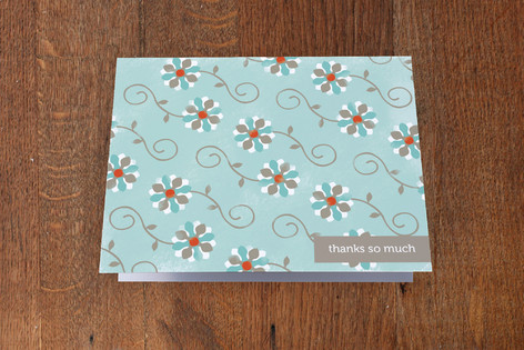 Whimsy Flowers Folded Personal Stationery