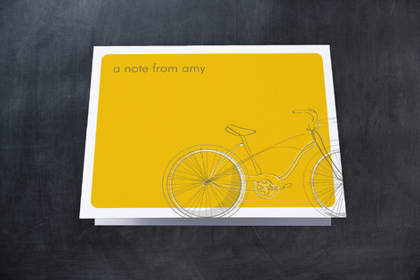 Bicicletta Folded Personal Stationery