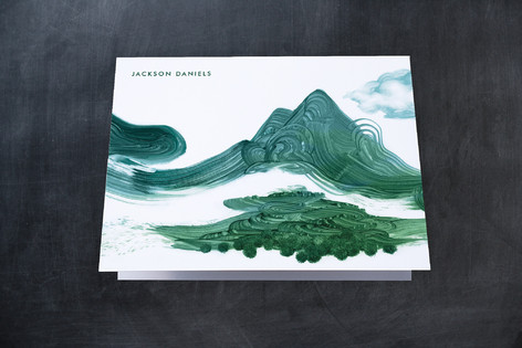 Mountainscape Folded Personal Stationery
