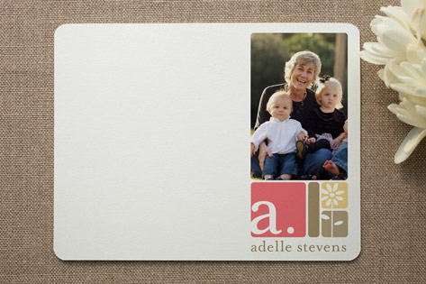 alpha blocks Photo Stationery Cards