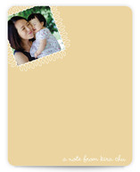 swirly stamp Photo Stationery Cards