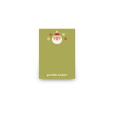 Happy Santa Mini Notecard Favor