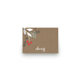 Berry Kraft Mini Notecard Favor