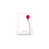 Up Up and Away Balloon Mini Notecard Favor