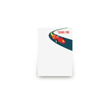 Vintage Race Car Mini Notecard Favor