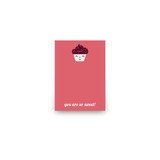Sweet Cupcakes Mini Notecard Favor