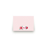 Retro Floral Garden Mini Notecard Favor