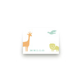 Zoo Menagerie Mini Notecard Favor