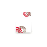 Patterned Floral Kraft Mini Notecard Favor