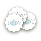 Elegant Joy Scalloped Stickers