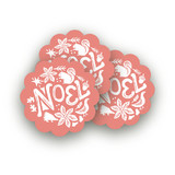 Pastoral Noel Scalloped Stickers
