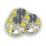 Animals Born Free Scalloped Stickers