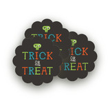 Monster Halloween Scalloped Stickers