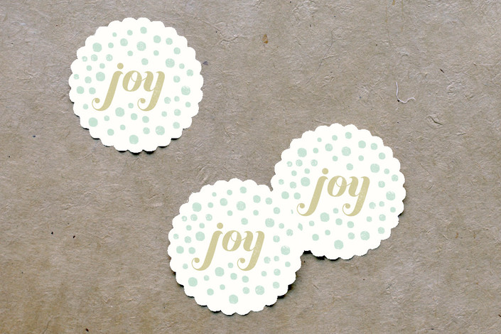 Personalize your holiday gifts - Scalloped stickers