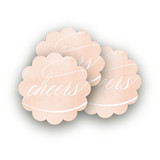 Rose-Colored Glass Scalloped Stickers
