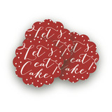 Red Velvet Revelry Scalloped Stickers
