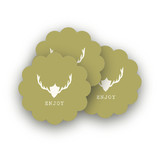Fireside Feast Scalloped Stickers