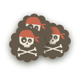 argh! pirates! Scalloped Stickers