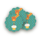 Birthday Balloon Fun Scalloped Stickers