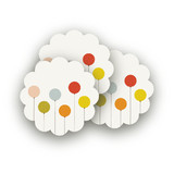 Colorful Balloons Scalloped Stickers