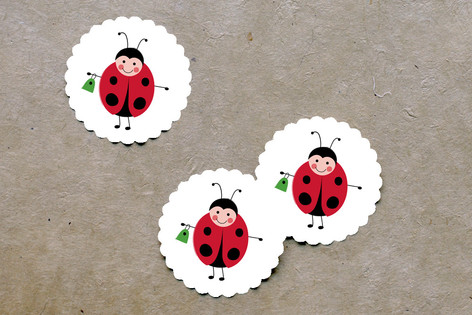 Little Ladybug Scalloped Stickers