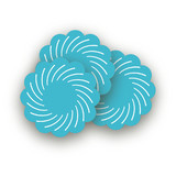 Pinwheel Scalloped Stickers