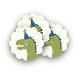 Cakeasaurus Dinosaur Scalloped Stickers