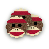 Sock Monkey Scalloped Stickers