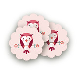 Blushing Owl Scalloped Stickers